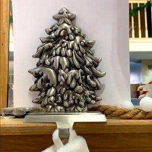 Other - Stocking hanger Christmas tree satin nickel